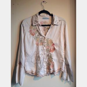 Johnny Was Silk Blouse, Size s